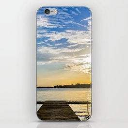 Sunset at the Lake Dock iPhone Skin