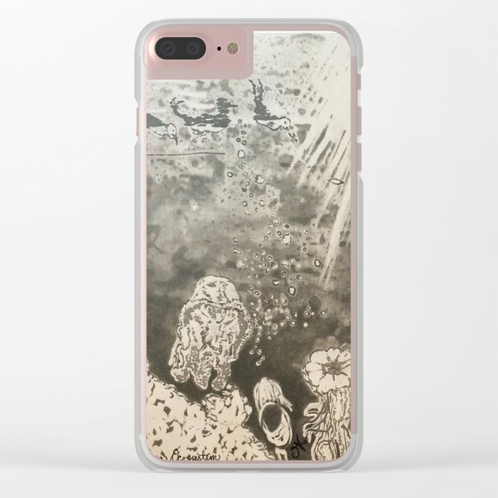 MoonSea EcoSystem Black and White Clear iPhone Case