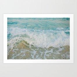Ocean wave Art Print