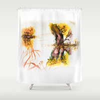 fog Shower Curtains featuring Fog by MARIA BOZINA - PRINT