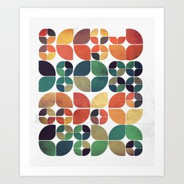 Vintage Fall Pattern Art Print