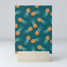 Pineapples swimmers I Mini Art Print