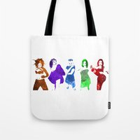 spice girls Tote Bags featuring The Spice Girls by Greg21