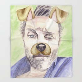 Rob Benedict, watercolor painting Throw Blanket