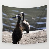 ducks Wall Tapestries featuring Ducks by Phil Hinkle Designs