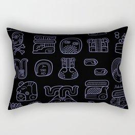 Picto-glyphs Story--Negro Rectangular Pillow