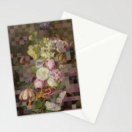 Vintage mosaic floral still life Stationery Cards