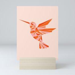 Abstraction_Hummingbird_Minimalism_001 Mini Art Print