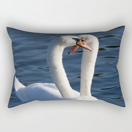 Swan Courtship  Rectangular Pillow