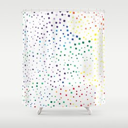 rainbow color geometric Shower Curtain