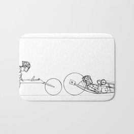 Transitions through Triathlon Para Cyclist Drawing Bath Mat
