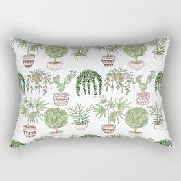 Watercolor . Plants . Rectangular Pillow