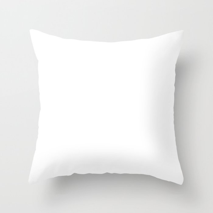 Plain White Simple Solid Color All Over Print Throw Pillow