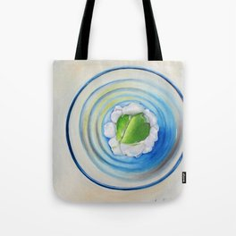 Limeade In A Blue Glass Tote Bag