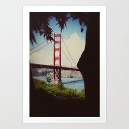 a view of Golden Gate Bridge Art Print