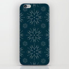 Snowflake Skulls: Grey+Blue iPhone Skin