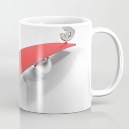 Euro and Dollar symbols at opposite sides of a balanced plane Coffee Mug