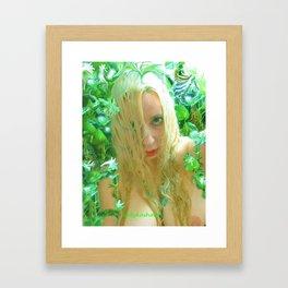 Nude sexy blond wet fairy wood nymph lady kashmir  Framed Art Print