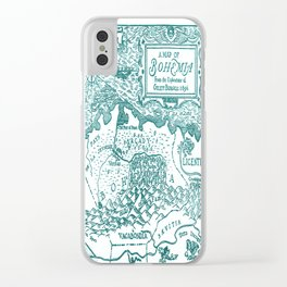Map of Bohemia (blue) Clear iPhone Case