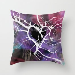 Chaotic Memories Throw Pillow