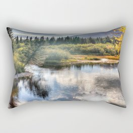 Fall Fly Fishing in Maine Rectangular Pillow