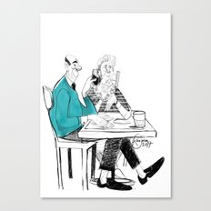 the old couple Canvas Print