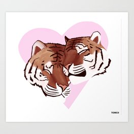 Tigers In Love Art Print