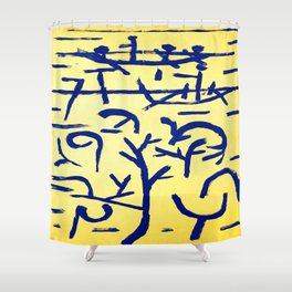 Paul Klee Boats in the Flood Shower Curtain