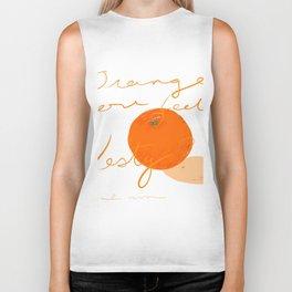 Orange you feeling zesty Biker Tank