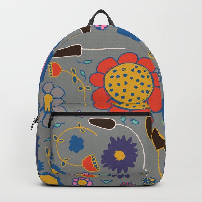 Blossom #3 gray Backpack