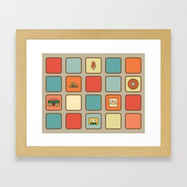 Retro Sound Framed Art Print