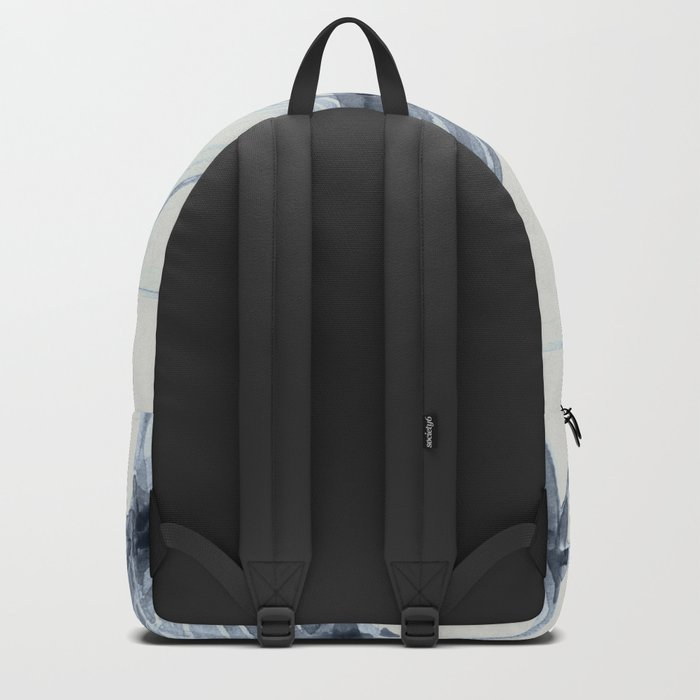 Simply Wabi-sabi in Indigo Blue on Lunar Gray Backpack