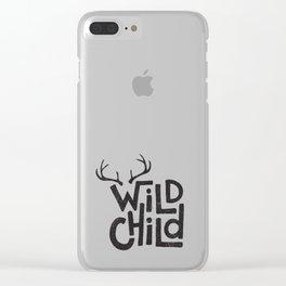 WILD CHILD Clear iPhone Case