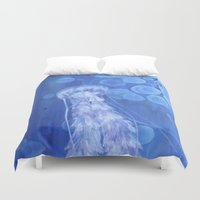 jelly fish Duvet Covers featuring Jelly Fish by Lise Dumas Richard