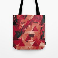 david bowie Tote Bags featuring Bowie by Aivé Trujillo