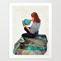 turquoise Art Prints featuring TURQUOISE by Beth Hoeckel