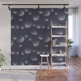 White Cassiopea in Navy Wall Mural