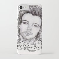 louis tomlinson iPhone & iPod Cases featuring louis tomlinson by stylin_art