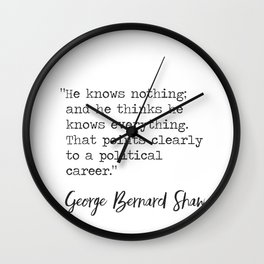 George Bernard Shaw awesome quote Wall Clock