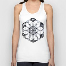 Geometric Sacred Geometry Flower of Life Pattern Mandala Unisex Tank Top