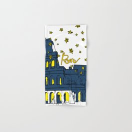 Rome Italy Colosseum Starry night Hand & Bath Towel