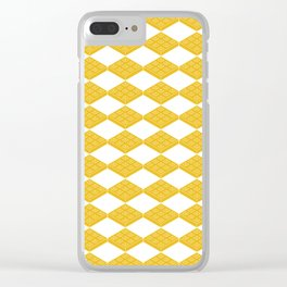 waffles pattern Clear iPhone Case