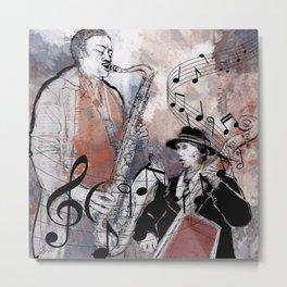Jazz Men Metal Print