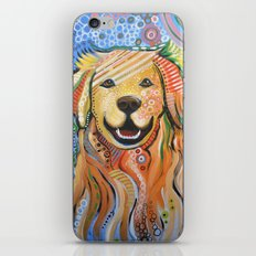 Max ... Abstract dog art, Golden Retriever iPhone & iPod Skin