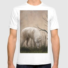 Woodland Wolf Mens Fitted Tee MEDIUM White
