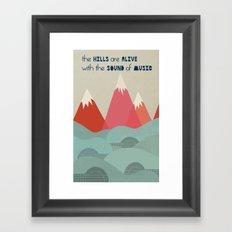 Music Hills Framed Art Print