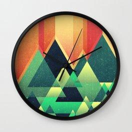 Summer Mountains Wall Clock