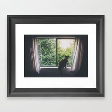 Window Cat Framed Art Print