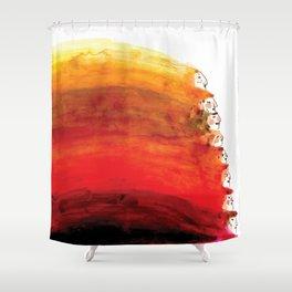 Rainbow of red hair Shower Curtain