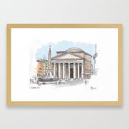 Pantheon, Rome Framed Art Print